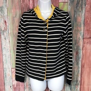 Charter Club striped buttondown sweater